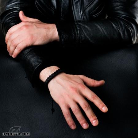 cobrabone black  bracelet  banglesoz abstract