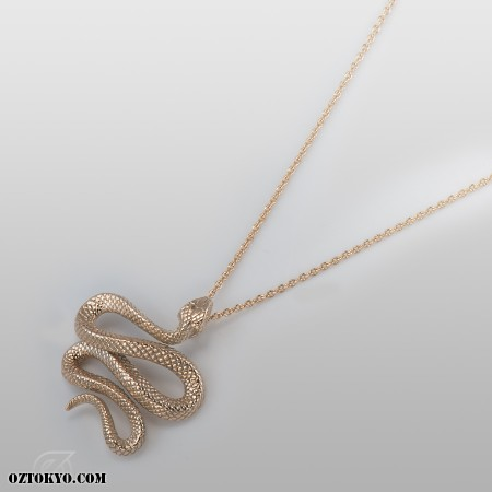Trust gold pendants necklaces chokers by oz abstract tokyo oz abstract tokyo trust gold snake necklace with diamonds p1961k10 left view aloadofball Choice Image