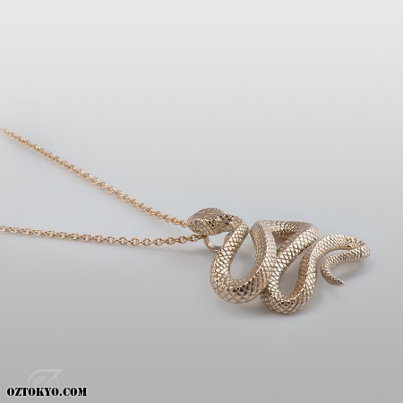 Trust gold pendants necklaces chokers by oz abstract tokyo oz abstract tokyo trust gold snake necklace with diamonds p1961k10 right view aloadofball Choice Image