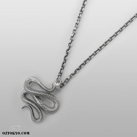 Trust ruby pendants necklaces chokers by oz abstract tokyo oz abstract tokyo trust silver snake necklace with ruby p1961rb left view aloadofball Images