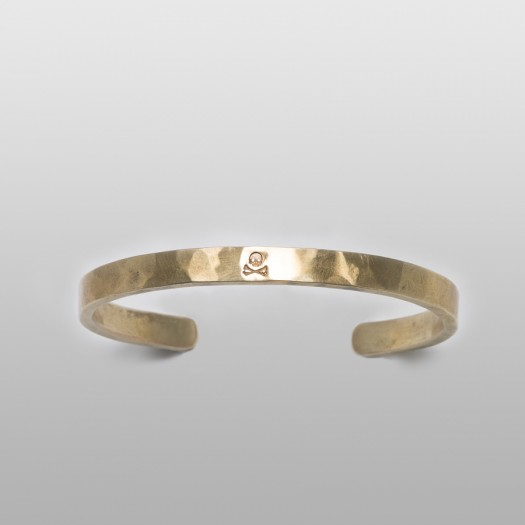 CrossBone Bangle (Brass)